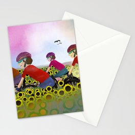 Les Poursuivants (Boys on Bikes in France) Stationery Cards