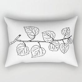 Aspen Branch Minimalism Rectangular Pillow