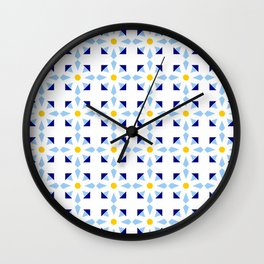 rosace and star 1 Wall Clock