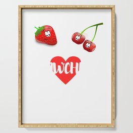 Strawberry cherry fruit fruit sweet vegan gift Serving Tray