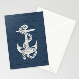 Blue Wood Anchor Stationery Cards