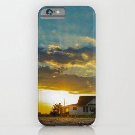 Sunset at Bowers Beach Coastal Landscape Photograph iPhone Case