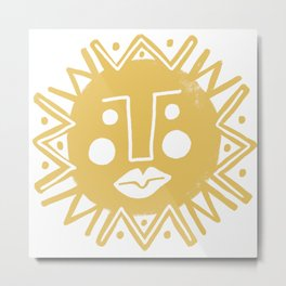 Cheerful Happy Sunshine Numero 4 Metal Print