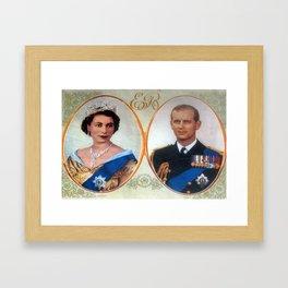 Queen Elizabeth 11 & Prince Philip in 1952 Framed Art Print
