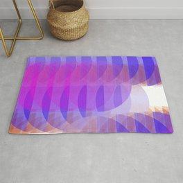 Geometric pink & purple flow Rug