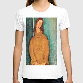 "Amedeo Modigliani ""Jeanne Hebuterne in a Yellow Jumper"" T-shirt"