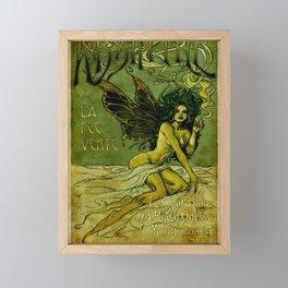 Vintage Parisian Green Fairy Absinthe Alcoholic Aperitif Advertisement Poster Framed Mini Art Print