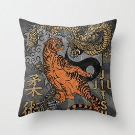 Jiu Jitsu Tiger and Dragon Art, Yin Yang, Martial Arts, Bjj Mma, Japanese Throw Pillow