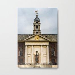 Royal Hospital Facade and Clock Chelsea London England Metal Print