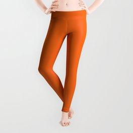 Now ORANGE TIGER solid color Leggings