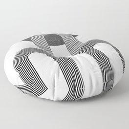 MID CENTURY MODERN ART DECO ARTWORK Floor Pillow