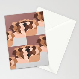 multicultural face Stationery Cards