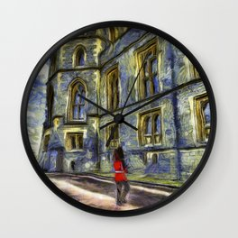 Windsor Castle Coldstream Guard Art Wall Clock