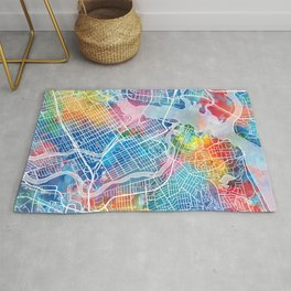 ottawa map watercolor Rug