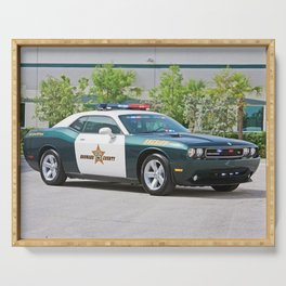 Broward Country Florida Challenger Police Highway Patrol color photograph / photography Serving Tray