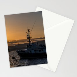 Oban Boat Sunset  Stationery Cards