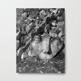 Gaia in Rubble Metal Print