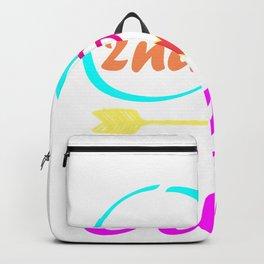 2nd Grade Crew Teacher 1st Day School design Backpack