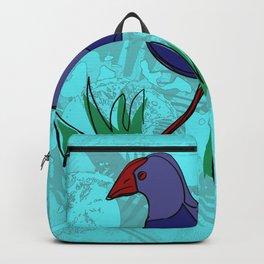 New Zealand Pukeko in blue Backpack