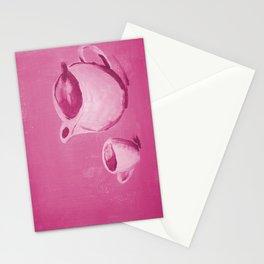 Monochrome Tea Pot Stationery Cards