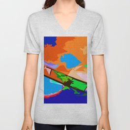 Biplane Aerobatics Unisex V-Neck