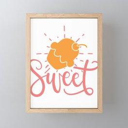 sweet - Adventure Design Framed Mini Art Print