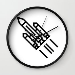 Space Rocket Icon Wall Clock