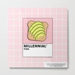 Millenial Pink Metal Print