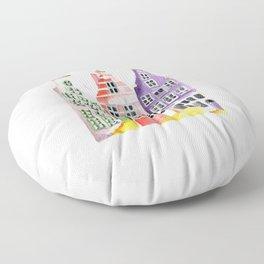 Amsterdam houses Floor Pillow