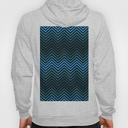 Blue And Black Zig Zag Abstract Design Hoody
