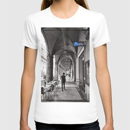 Black and white Bologna Street Photography T-shirt