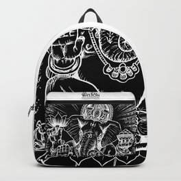Ganesh: White Backpack