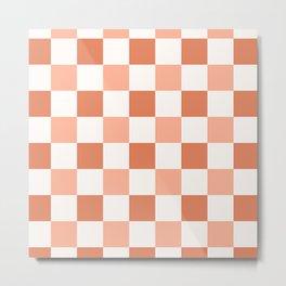 Light pink checkerboard pattern  Metal Print