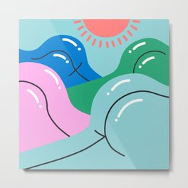 Sun's Out, Buns Out Metal Print