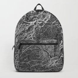Snow-covered branches Backpack