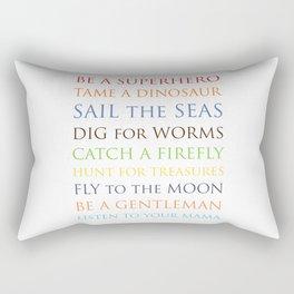 Be A Superhero, rainbow multi-color palette Rectangular Pillow