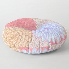 Watercolor Bouquet - Periwinkle Peach Floor Pillow