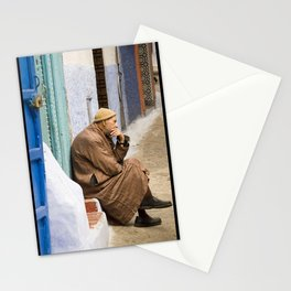 Moroccan man thinking Stationery Cards