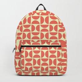 HALF CIRCLES, CORAL Backpack