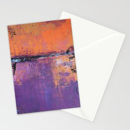 Poetic City - Urban Abstract Painting Stationery Cards