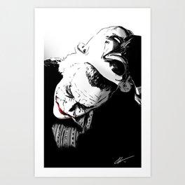 Man Behind The Mask Kunstdrucke