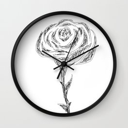 pencil rose Wall Clock