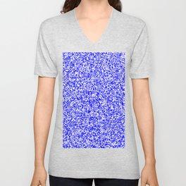 Tiny Spots - White and Blue Unisex V-Neck
