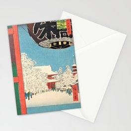 Utagawa Hiroshige -100 Famous Views of Edo - Asakusa, Kinryuzan Stationery Cards