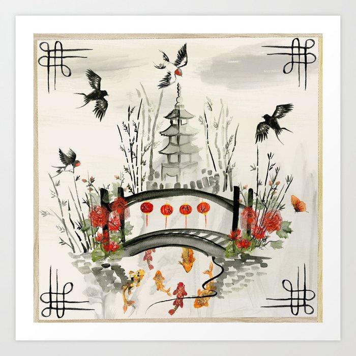 Oriental Garden Kunstdrucke