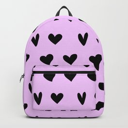 Black Hearts Lovely Pattern Happy Valentines Day Backpack