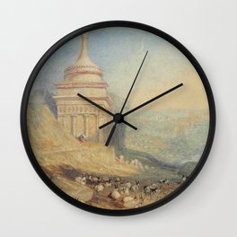 """J.M.W. Turner """"The Valley of the Brook at Kidron, Jerusalem (Absalom's Tomb)"""" Wall Clock"""