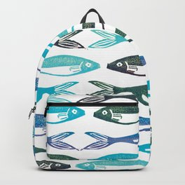 Five blue fish Backpack
