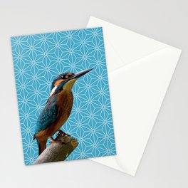 Kingfisher Montage (Norse Blue) Stationery Cards