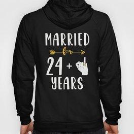 25th 25 year Wedding Anniversary Gift Married Husband Wife graphic Hoody